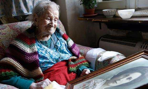 Bà Emma Morano, 116 tuổi, là người cao tuổi nhất châu Âu và cũng là người đang giữ kỷ lục sống thọ thứ hai trên thế giới hiện nay. Ảnh: AP