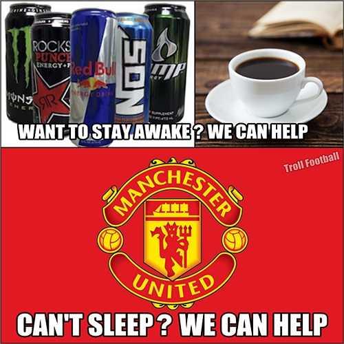 Những fan Man Utd giờ đây, mỗi khi xem Man Utd phải chuẩn bị đầy đủ 'vũ khí' chống lại giấc ngủ