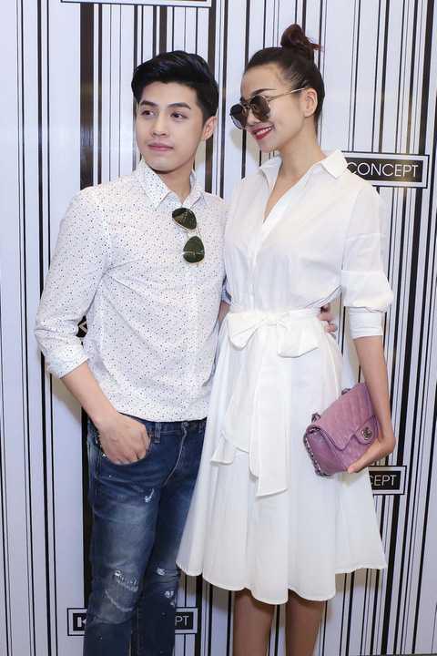 Thanh Hằng diện bộ váy trắng kín đáo bên cạnh Noo Phước Thịnh bảnh bao