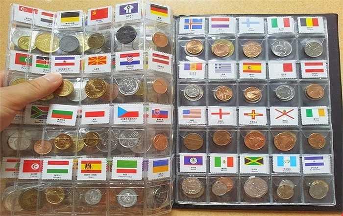 Có giá mềm hơn, từ 1,2 - 1,5 triệu đồng là bộ tiền xu của 120 quốc gia.