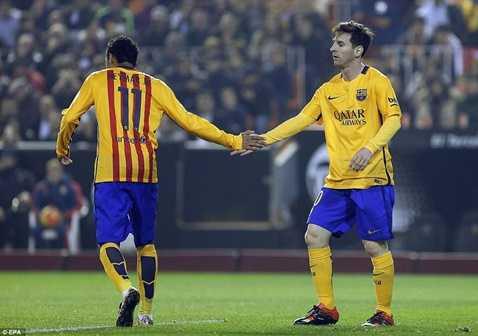 Barca vừa thủ hòa Valencia ở La Liga