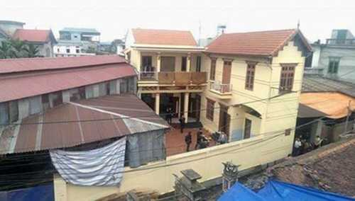 Ngôi nhà nơi xảy ra vụ việc.