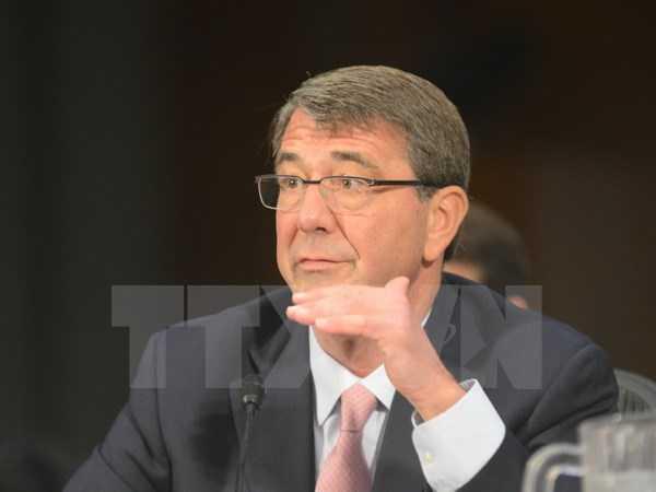 Bộ trưởng Quốc phòng Mỹ Ashton Carter - Ảnh: TTXVN