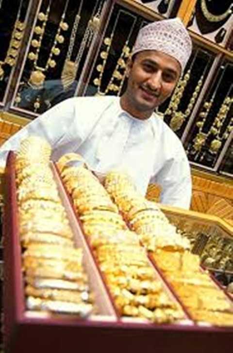 Vàng là đồ trang sức ưa thích của các đại gia Ả Rập lắm tiền nhiều của