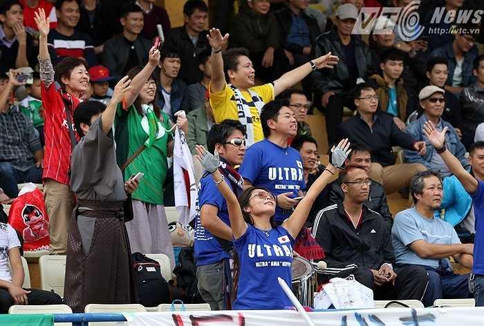 Dù chỉ là trận giao hữu nhưng CĐV Nhật đến khá đông và cổ vũ nhiệt tình
