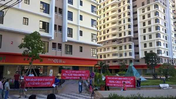 Người dân ở khu dân cư Kỷ Nguyên phản đối công ty cổ phần Đức Khải