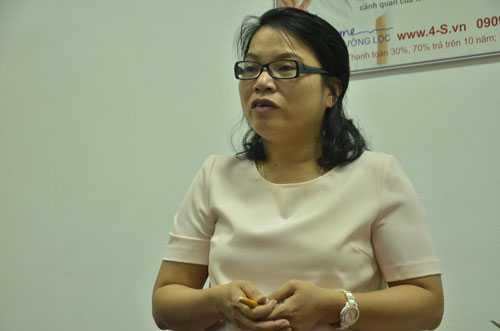 Bà Nguyễn Thị Song Tùng, Phó giám đốc, đại diện công ty Thành Trường Lộc