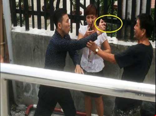 Bảo vệ Quách Minh Thắng dùng bình xịt hơi cay tấn công ông Tú
