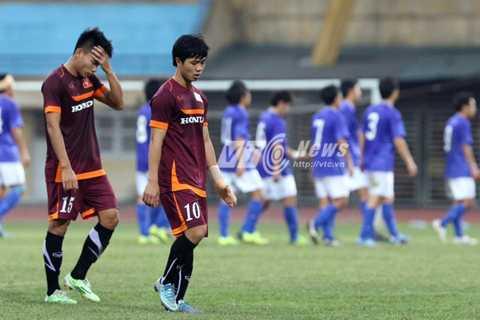 U23 Việt Nam tiếp tục thua khâm phục, khẩu phục trước đội bóng hạng 4 của Nhật Bản (Ảnh: Quang Minh)