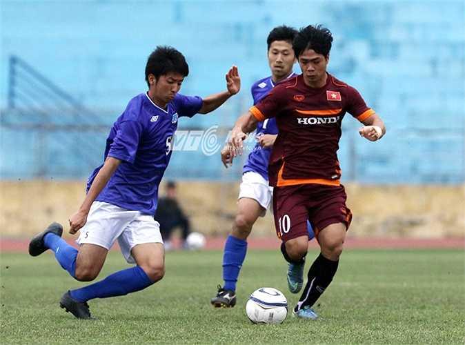Phút 78, U23 Việt Nam thủng lưới sau một tình huống dàn xếp đơn giản. (Ảnh: Quang Minh)