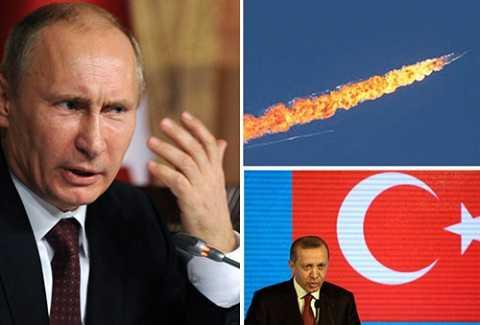Quan hệ giữa Thổ Nhĩ Kỳ và Nga trở nên căng thẳng sau khi tiêm kích F-16 của Thổ Nhĩ Kỳ bắn hạ tiêm kích Su-24 của Nga