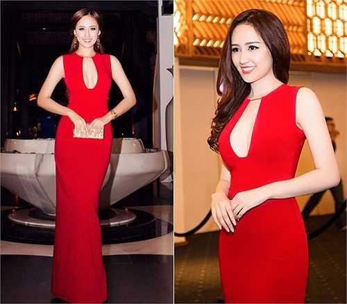 Hoa hậu Mai Phương Thúy sang trọng và gợi cảm trong bộ đầm đỏ khoét ngực khi tham gia một sự kiện cách đây vài ngày