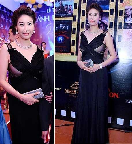 Xuất hiện trong một sự kiện, Hoa hậu Việt Nam 1992 - Hà Kiều Anh - sai lầm trong cách chọn nội y với đồ xuyên thấu, gây phản cảm.