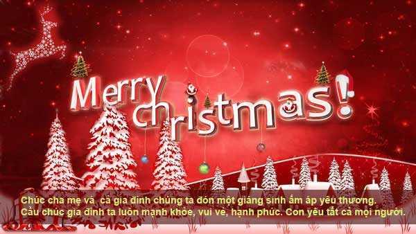 Lòi chúc Giáng sinh
