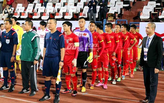 Tiền đạo của HAGL là người thứ 5 ở U23 Việt Nam đeo chiếc băng này trong 3 trận giao hữu của U23 Việt Nam. (Ảnh: Quang Minh)
