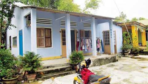 Căn nhà cấp 4 tại thôn Dương Sơn của gia đình anh Lý Phước Cang.
