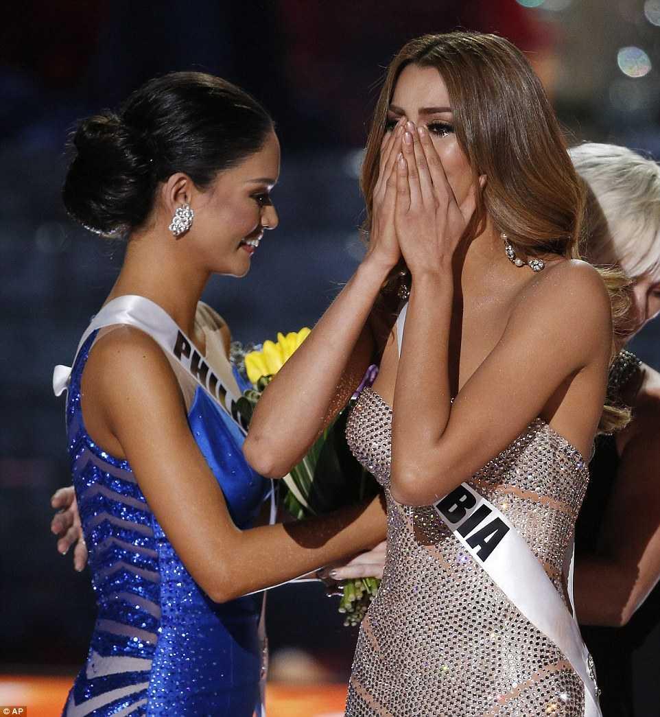 Giây phút được xướng tên, Adriadna đã không kiềm chế được những giọt nước mắt hạnh phúc