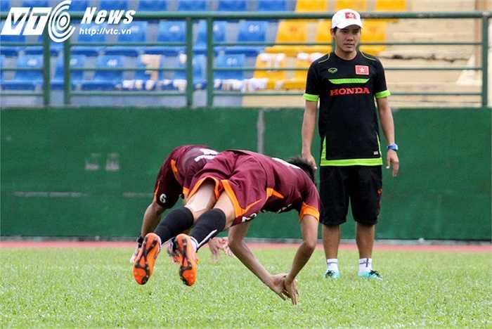 Những bài tập hiện tại của U23 Việt Nam chú trọng đến giữ trạng thái cơ bắp