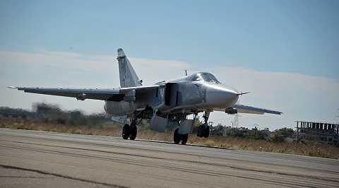 Máy bay Nga làm nhiệm vụ không kích tiêu diệt IS ở Syria