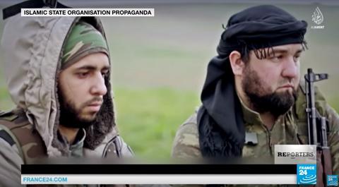 Chiến binh người Bosnia xuất hiện trong video tuyên truyền của IS - Ảnh France 24