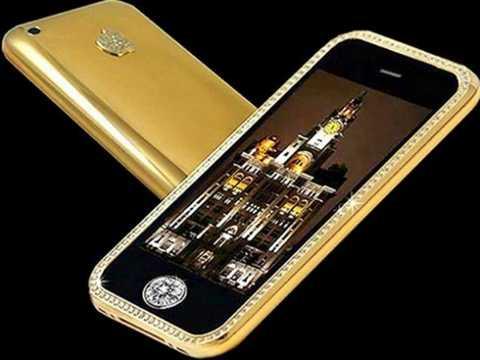 Supreme Goldstriker iPhone 3G - 3,2 triệu USD. Nút Home của chiếc điện thoại này thực sự đáng giá vì thực chất nó được phủ đầy bởi một viên kim cương 7 cara to lớn.