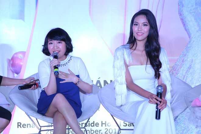 """Lan Khuê cảm ơn nhãn hàng Pond's đã phát động chiến dịch """"Thank you, Vietnam beauty! cùng các nghệ sĩ kêu gọi bình chọn cho cô tại Miss World."""
