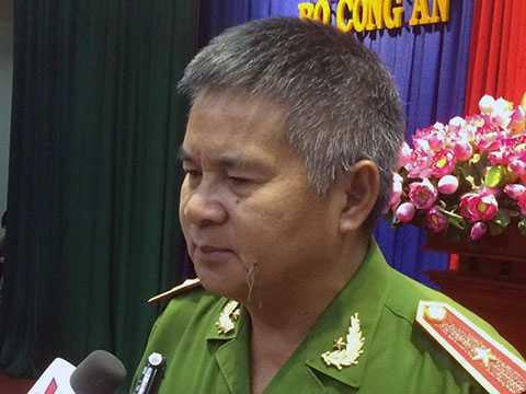 Thiếu tướng Hồ Sỹ Tiến, Cục trưởng cục cảnh sát hình sự, Bộ công an.