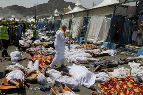 Ngày 24/9, vụ giẫm đạp nghiêm trọng xảy ra tại thung lũng Mina, bên ngoài thánh địa Mecca, Saudi Arabia khiến ít nhất 717 người thiệt mạng và 863 người bị thương