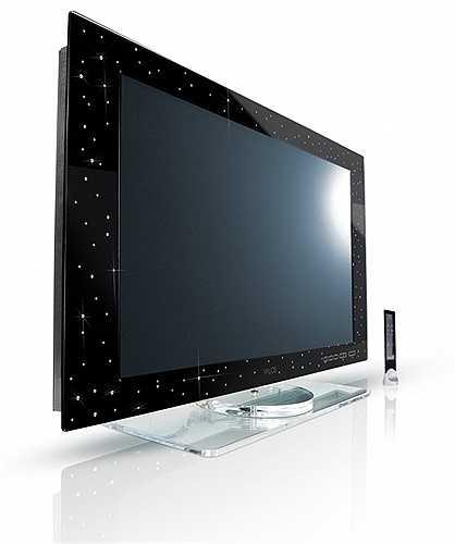 9. Keymat's Yalos Diamond TV: 130 000 USD. Khác với chiếc Samsung UN105S9, Keymat TV đắt không phải ở công nghệ. Keymat TV được thiết kế với 160 viên kim cương và vàng trắng xung quanh viền chắc chắn sẽ mang lại vẻ sang trọng và đẳng cấp cho người sở hữu.