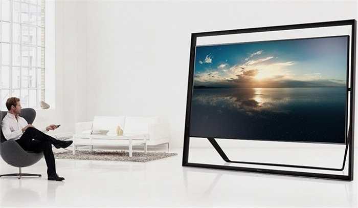 7. Samsung UA110S9 110-inch TV: 152 000 USD. UA110S9 là phiên bản TV tốt nhất từng có của Samsung. Màn hình 110 inch khổng lồ, công nghệ UHD gấp 4 lần Full HD TV, hệ thống loa chìm và đặc biệt là khả năng điều khiển bằng giọng nói, cử chỉ.. là những điểm nổi bật ở siêu phẩm này.