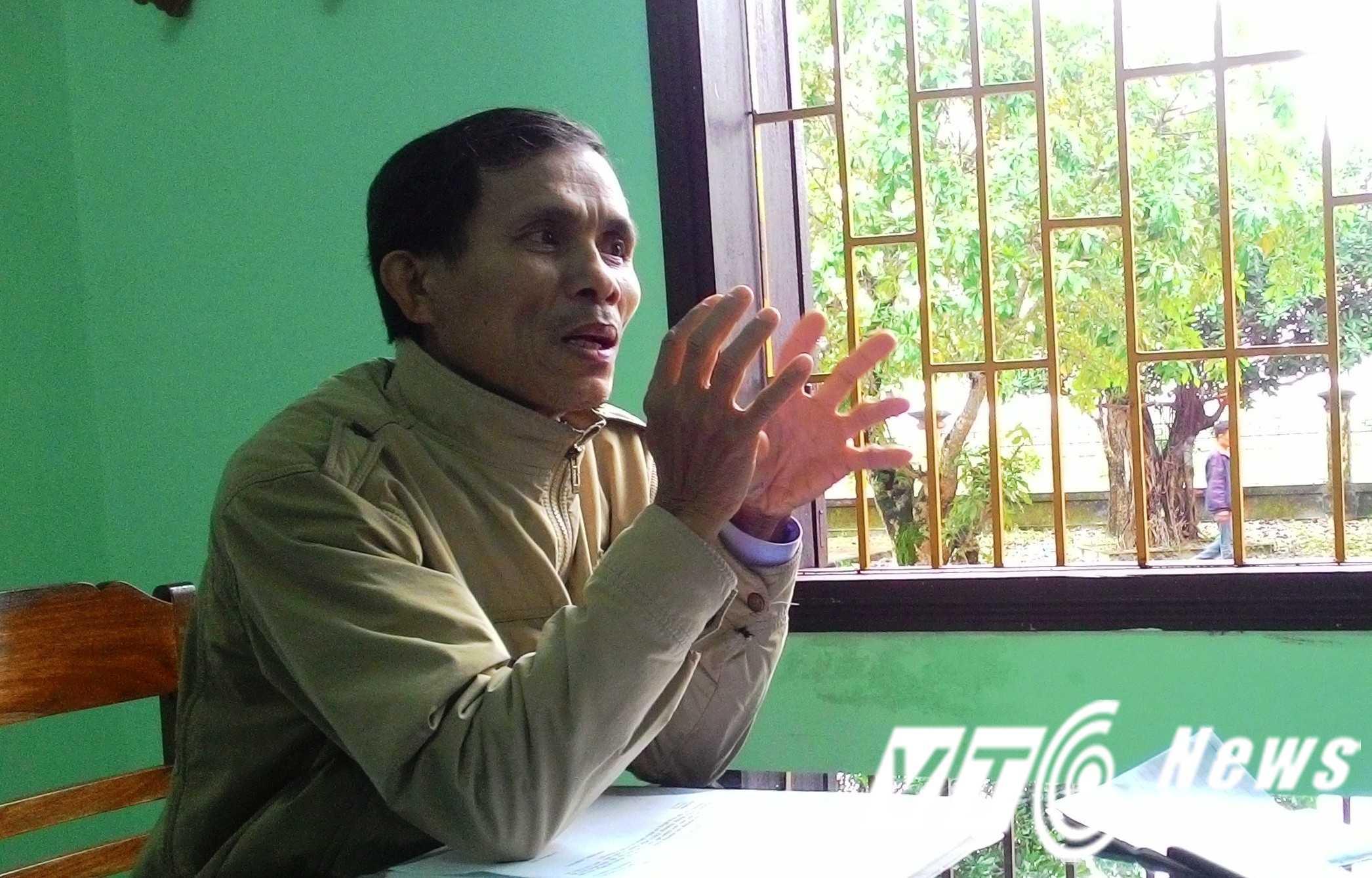 Ông Trần Gia Huy, Phó chủ tịch UBND xã Điền Hương bất ngờ khi hay tin Yên làm giám đốc.