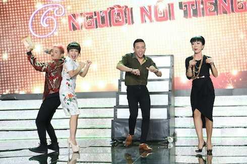 Trấn Thành, Việt Hương, Trác Thuý Miêu mỗi người một nhịp, không ai giống ai. Hòa nhịp chung còn có MC Thanh Duy.
