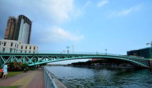 Cầu Mống hướng nhìn từ quận 1 sang quận 2.