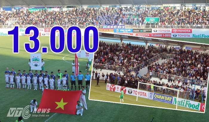 Khán giả V-League tăng nhờ sức hút của HAGL