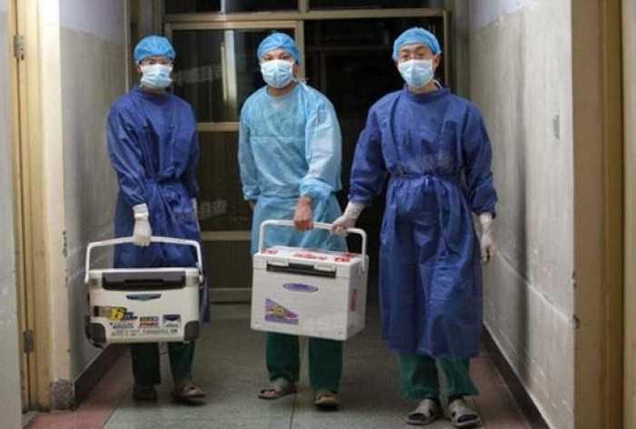 Bác sĩ Trung Quốc chuẩn bị cho một ca ghép nội tạng ở tỉnh Hà Nam ngày 16/8/2012