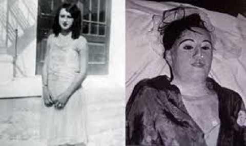 Elena de Hoyos lúc còn sống và thi thể được bảo quản
