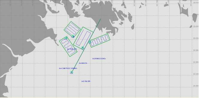 Khu vực tìm kiếm thuyền viên tàu 1800 HP còn mất tích (ảnh Vietnam MRCC)
