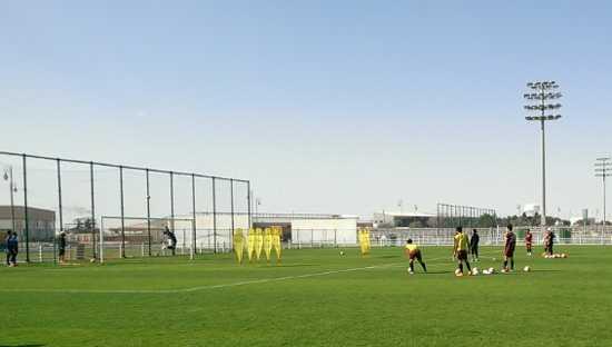 U23 VN tập luyện ở Qatar