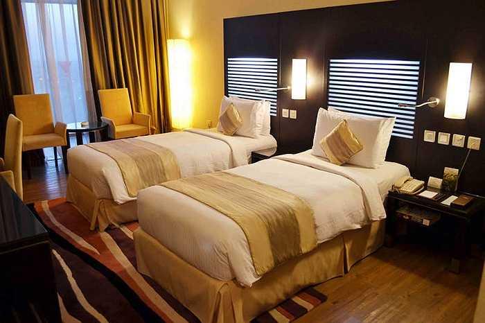 Phòng ngủ của các cầu thủ U23 Việt Nam.