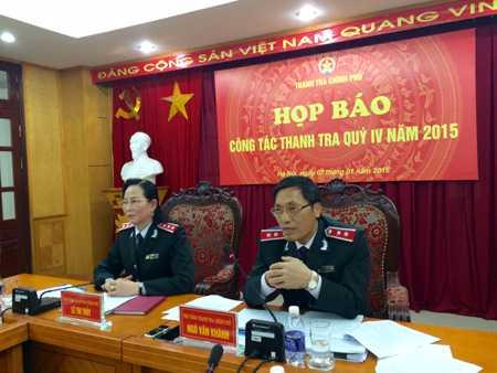 Ông Ngô Văn Khánh trả lời câu hỏi của PV tại cuộc họp báo (Ảnh: Thế Kha).