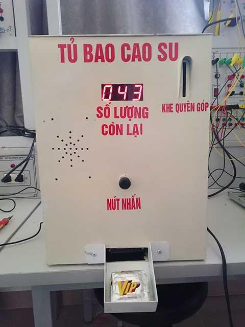 Sinh viên Đà Nẵng, sáng chế, máy phát bao cao su, miễn phí