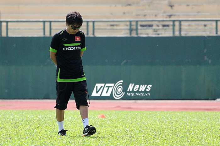 HLV Toshiya Miura vẫn đang 'giấu' đội trưởng U23 Việt Nam (ảnh: H.T)