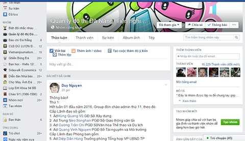 Đà Nẵng, lãnh đạo Sở, tham gia điều hành, facebook, quản lý đô thị