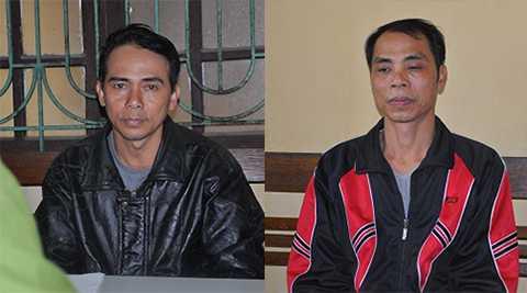 Hai đối tượng vừa bị cơ quan Công an bắt giữ