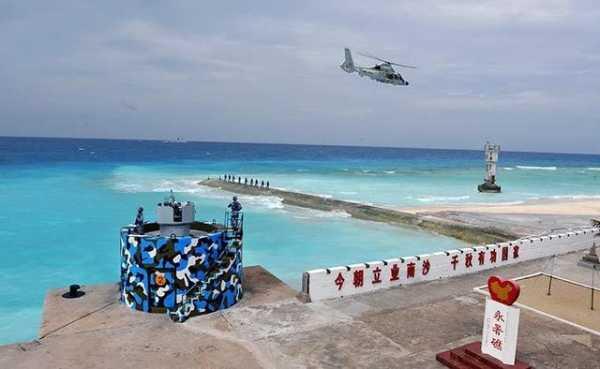 Trung Quốc đã cho trực thăng hoạt động ở đá Chữ Thập thuộc quần đảo Trường Sa của Việt Nam - Ảnh: military.china.com