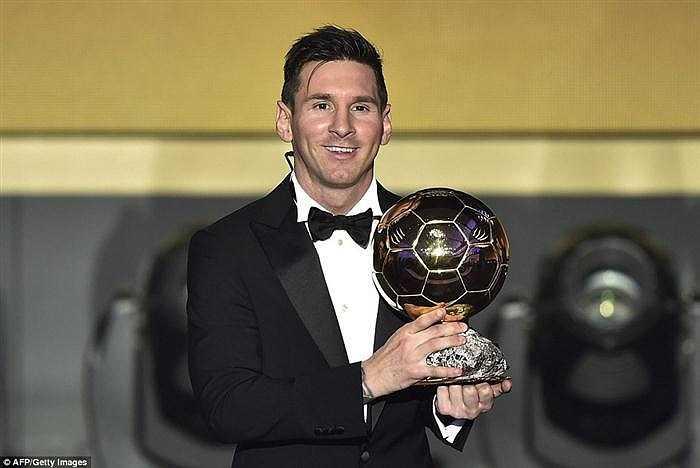Messi đã đoạt Quả bóng vàng với tỷ lệ phiếu bầu 41,33%