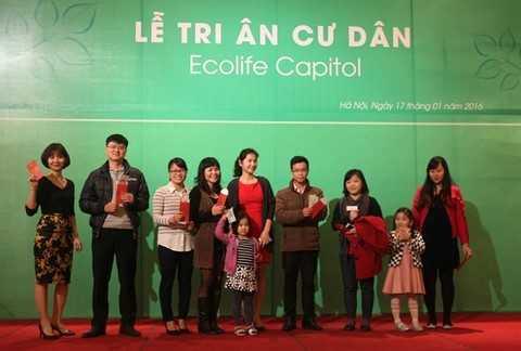 Chủ đầu tư Thủ đô Invest gửi tặng nhiều quà tặng ý nghĩa đến các cư dân tương lai của EcoLife Capitol.