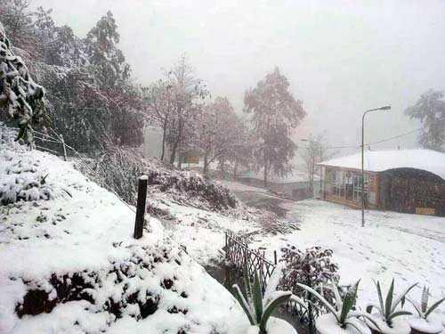 Nhiệt độ giảm sâu có thể xuất hiện mưa tuyết ở các vùng cao (ảnh minh hoạ)