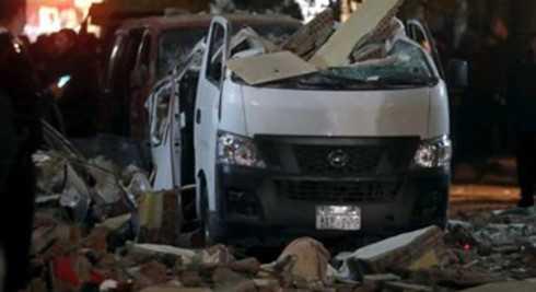 Hiện trường vụ đánh bom khủng bố tại Ai Cập. (Ảnh: RT)