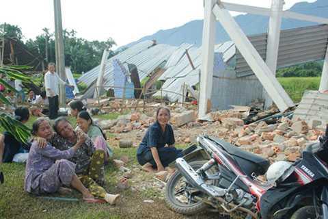 Động đất mạnh, kèm tiếng nổ lớn, Quảng Nam, Sông TRanh 2, Bắc Trà My